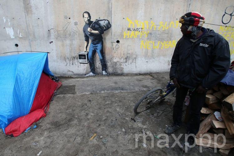 Banksy à Calais: Steve Jobs, migrant syrien