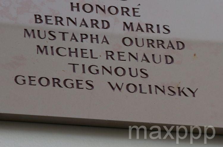 Charlie Hebdo: une faute sur la plaque, Wolinski rebaptisé
